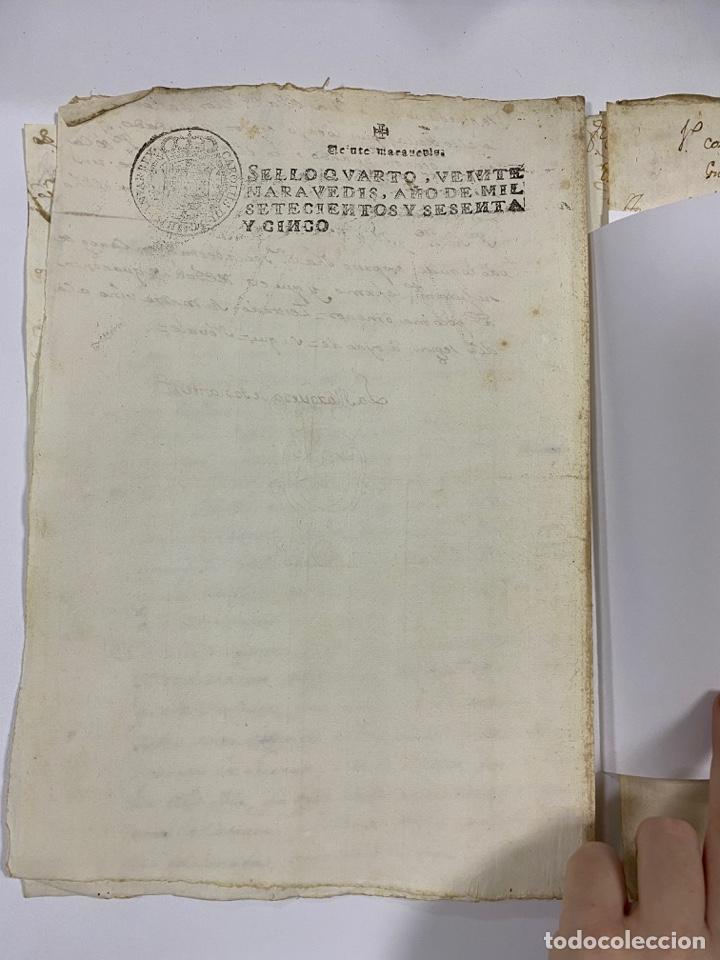 Manuscritos antiguos: CADIZ, 1765. DACIÓN DE BIENES. VARIOS DOCUMENTOS. 2 SELLOS-TIMBRES. VER/LEER - Foto 9 - 243543215
