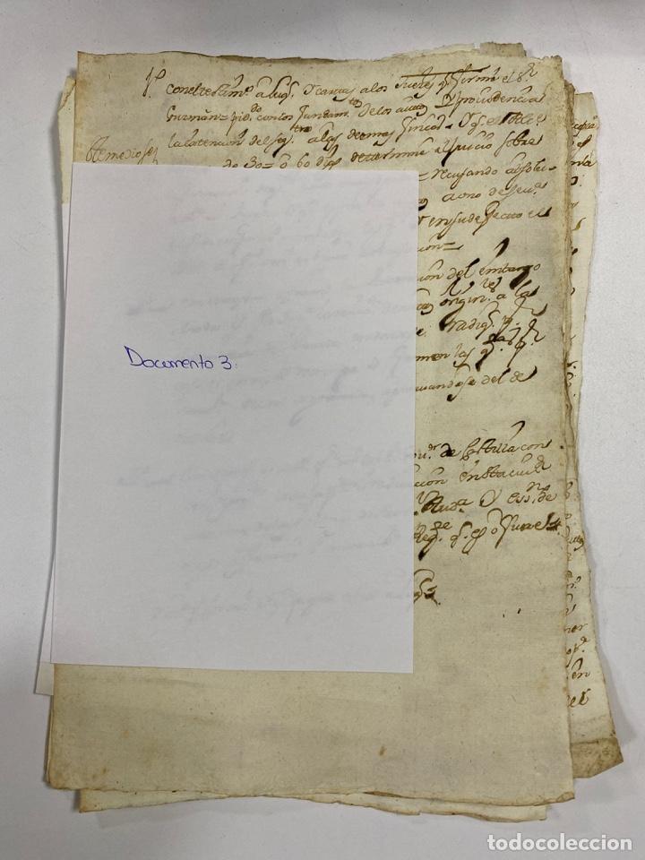 Manuscritos antiguos: CADIZ, 1765. DACIÓN DE BIENES. VARIOS DOCUMENTOS. 2 SELLOS-TIMBRES. VER/LEER - Foto 10 - 243543215