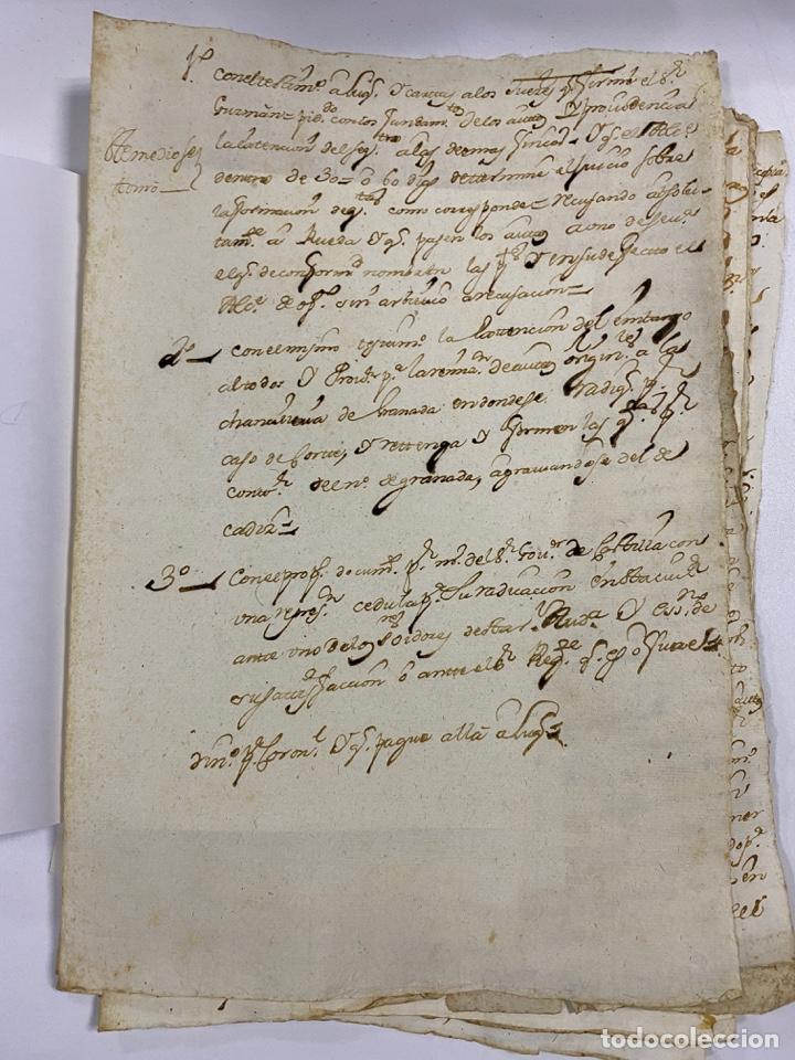 Manuscritos antiguos: CADIZ, 1765. DACIÓN DE BIENES. VARIOS DOCUMENTOS. 2 SELLOS-TIMBRES. VER/LEER - Foto 11 - 243543215