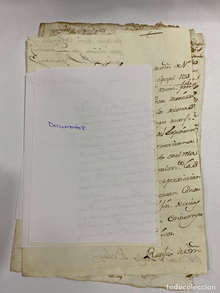 Manuscritos antiguos: CADIZ, 1765. DACIÓN DE BIENES. VARIOS DOCUMENTOS. 2 SELLOS-TIMBRES. VER/LEER - Foto 26 - 243543215