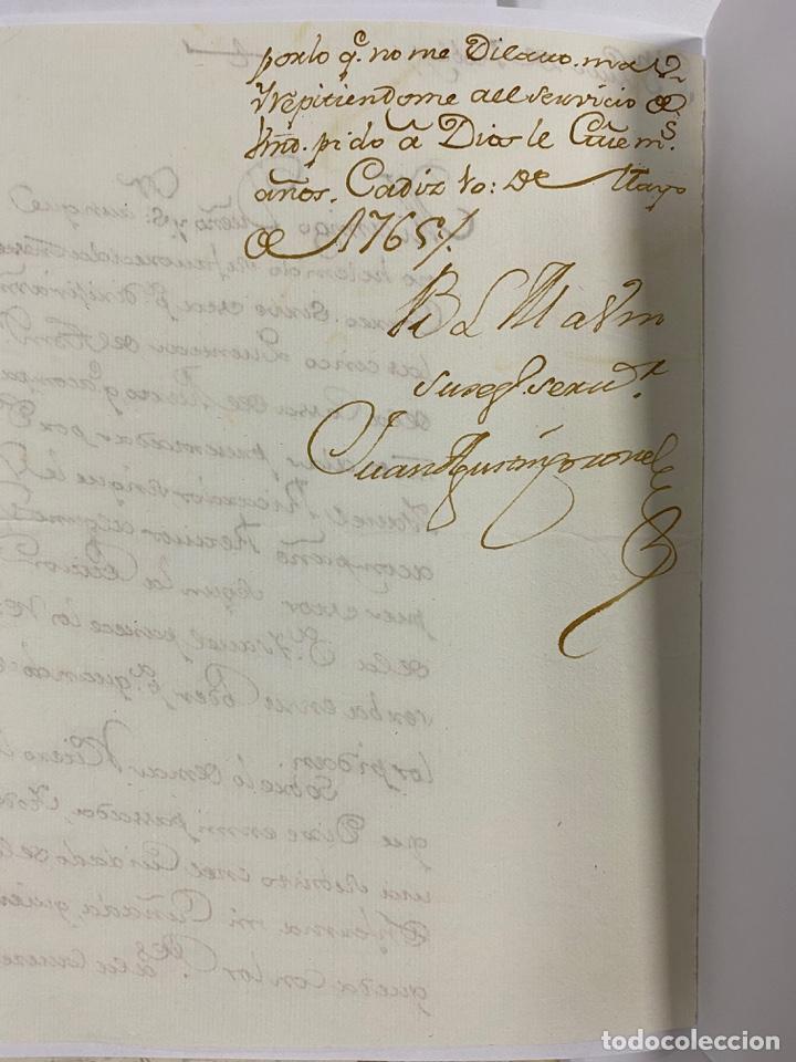 Manuscritos antiguos: CADIZ, 1765. DACIÓN DE BIENES. VARIOS DOCUMENTOS. 2 SELLOS-TIMBRES. VER/LEER - Foto 28 - 243543215