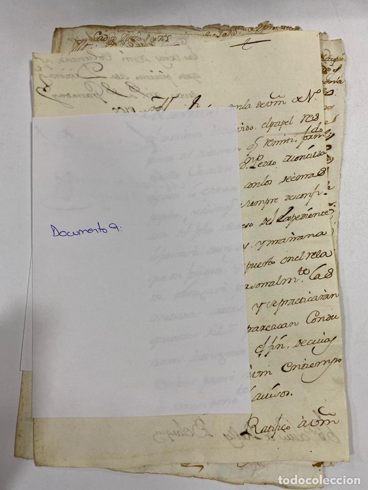 Manuscritos antiguos: CADIZ, 1765. DACIÓN DE BIENES. VARIOS DOCUMENTOS. 2 SELLOS-TIMBRES. VER/LEER - Foto 29 - 243543215