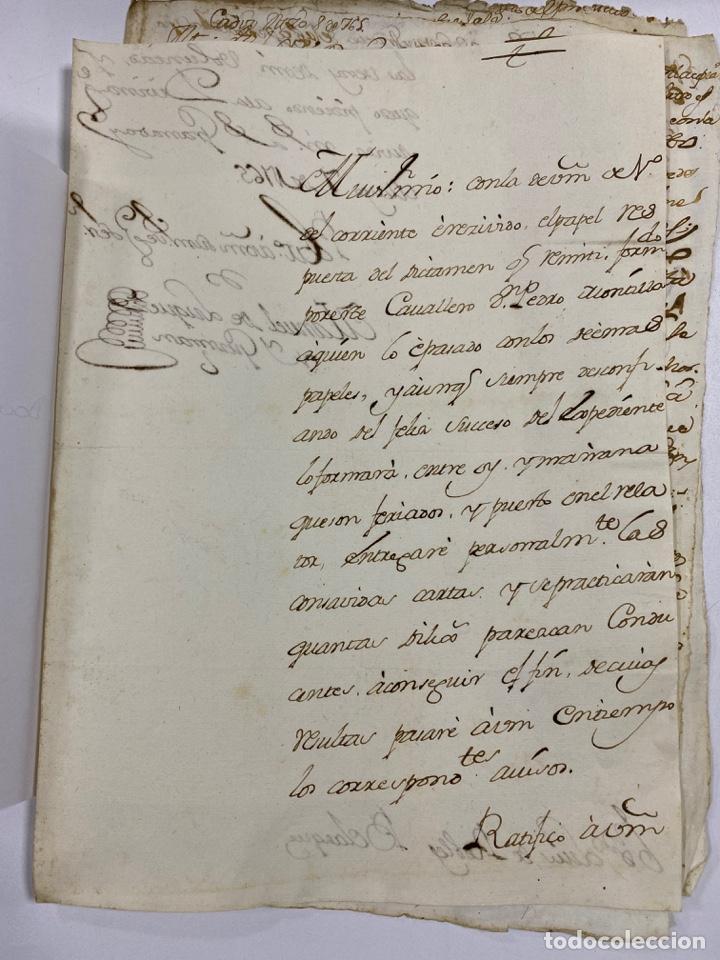 Manuscritos antiguos: CADIZ, 1765. DACIÓN DE BIENES. VARIOS DOCUMENTOS. 2 SELLOS-TIMBRES. VER/LEER - Foto 30 - 243543215
