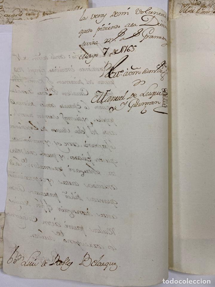 Manuscritos antiguos: CADIZ, 1765. DACIÓN DE BIENES. VARIOS DOCUMENTOS. 2 SELLOS-TIMBRES. VER/LEER - Foto 31 - 243543215