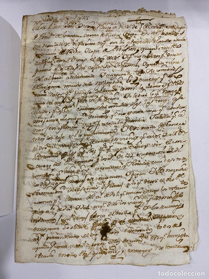 Manuscritos antiguos: CADIZ, 1765. DACIÓN DE BIENES. VARIOS DOCUMENTOS. 2 SELLOS-TIMBRES. VER/LEER - Foto 36 - 243543215