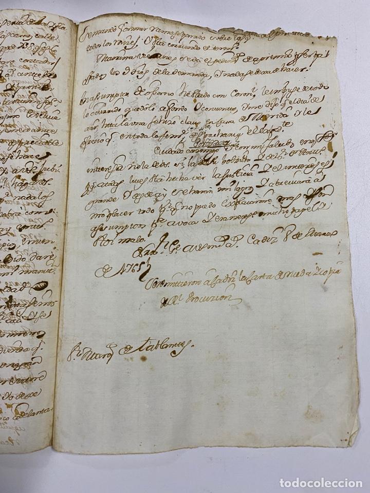 Manuscritos antiguos: CADIZ, 1765. DACIÓN DE BIENES. VARIOS DOCUMENTOS. 2 SELLOS-TIMBRES. VER/LEER - Foto 38 - 243543215