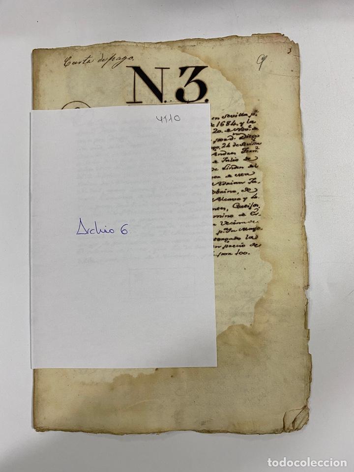 Manuscritos antiguos: CADIZ, 1765. DACIÓN DE BIENES. VARIOS DOCUMENTOS. 2 SELLOS-TIMBRES. VER/LEER - Foto 40 - 243543215