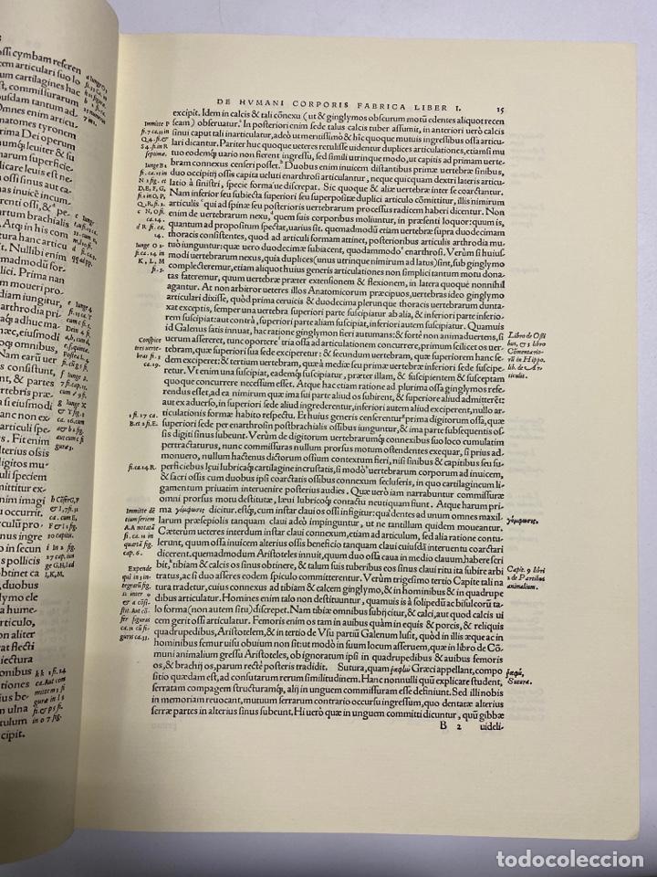 Manuscritos antiguos: HUMANI CORPORIS FABRICA. ANDRE VESALE. FACSIMIL DEL EJEMPLAR Nº 224. VER FOTOS - Foto 7 - 243547935