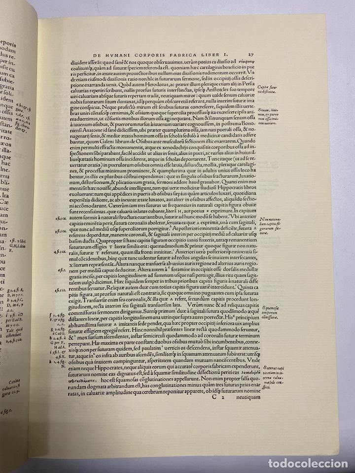 Manuscritos antiguos: HUMANI CORPORIS FABRICA. ANDRE VESALE. FACSIMIL DEL EJEMPLAR Nº 224. VER FOTOS - Foto 8 - 243547935
