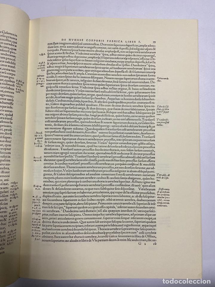 Manuscritos antiguos: HUMANI CORPORIS FABRICA. ANDRE VESALE. FACSIMIL DEL EJEMPLAR Nº 224. VER FOTOS - Foto 12 - 243547935