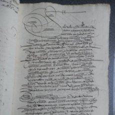 Manuscrits anciens: MANUSCRITO AÑO 1560 MIRANDA DE EBRO BURGOS 17 PÁGS CALIGRAFÍA LUJO MAYORAZGO SAMANIEGO. Lote 243623930