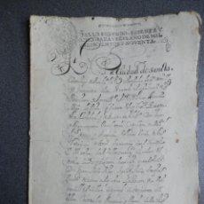 Manuscritos antiguos: MANUSCRITO AÑO 1690 FISCAL 2º RARO Y LUJO SANTO DOMINGO DE LA CALZADA LA RIOJA VENTA CASA 16 PÁGS. Lote 243626745