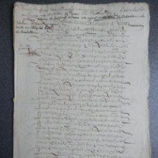 Manuscritos antiguos: MANUSCRITO AÑO 1623 CASALARREINA LA RIOJA ESCRITURA TRUEQUE TIERRAS BLANCAS 6 PÁGS BONITA LETRA. Lote 243631525