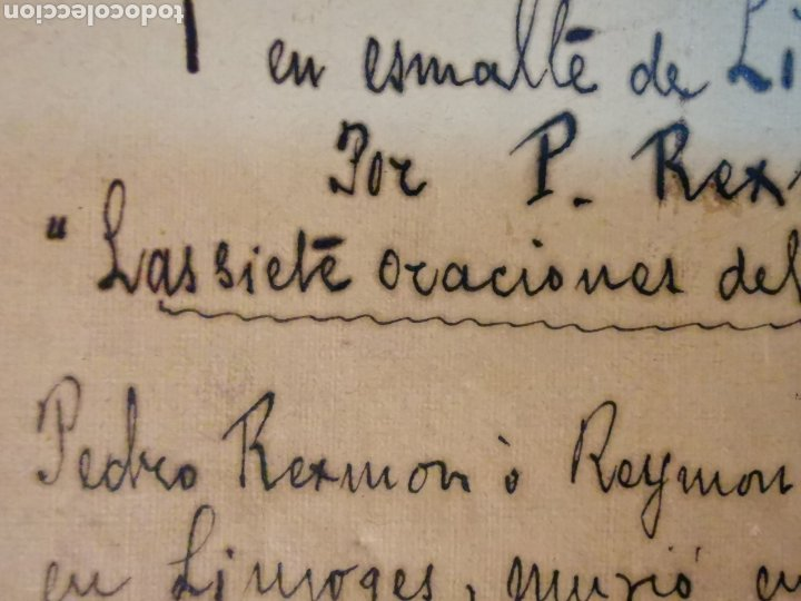 Manuscritos antiguos: Documento del Tríptico en esmalte de Limoges del s.XVI. Las 7 oraciones del padre nuestro. P. Rexmon - Foto 6 - 243687640