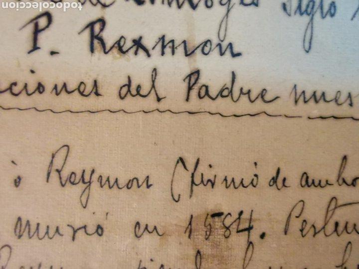 Manuscritos antiguos: Documento del Tríptico en esmalte de Limoges del s.XVI. Las 7 oraciones del padre nuestro. P. Rexmon - Foto 7 - 243687640