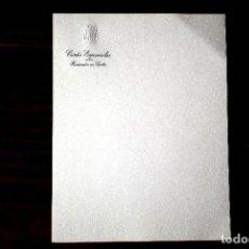 Manuscritos antiguos: PAPEL CON MEMBRETE DE PROCURADOR EN CORTES DURANTE EL FRANQUISMO. Lote 243898030