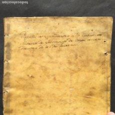 Manuscritos antiguos: REYES CATÓLICOS - ORÁN - MAZALQUIVIR - HISTORIA - DON JUAN DE AUSTRIA - ÁLVAREZ SOTOMAYOR PERGAMINO. Lote 243984750