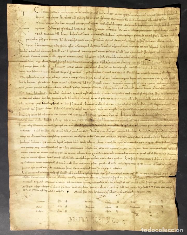 Manuscritos antiguos: Facsímil del Documento de donación del Cid a la Iglesia de Valencia - Rodrigo Díaz de Vivar - Foto 5 - 244178925