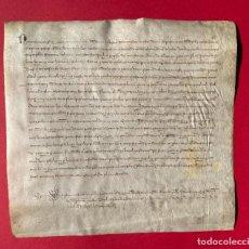 Manuscritos antiguos: AÑO 1323 - DOCUMENTO CATALÁN MEDIEVAL - PERGAMINO - 30X28CM. Lote 244404175