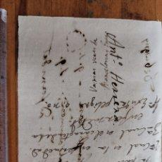 Manuscritos antiguos: DOCUMENTO DE INICIOS S. XIX. DONDE APARCE EL NOMBRE DE ANTONIO HERRERA. MEDICINA. Lote 244447710
