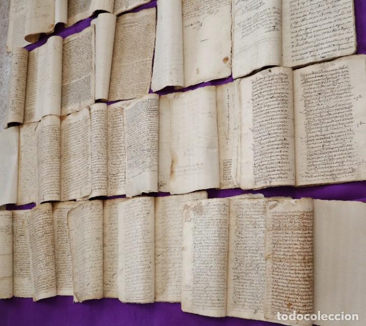 Manuscritos antiguos: Conjunto de 23 manuscritos relativos a la compra-venta de inmuebles. Siglos XVI-XIX. - Foto 5 - 244764245