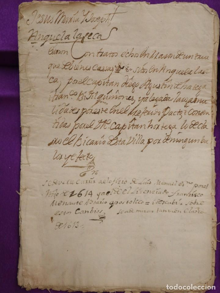 Manuscritos antiguos: Conjunto de 23 manuscritos relativos a la compra-venta de inmuebles. Siglos XVI-XIX. - Foto 8 - 244764245