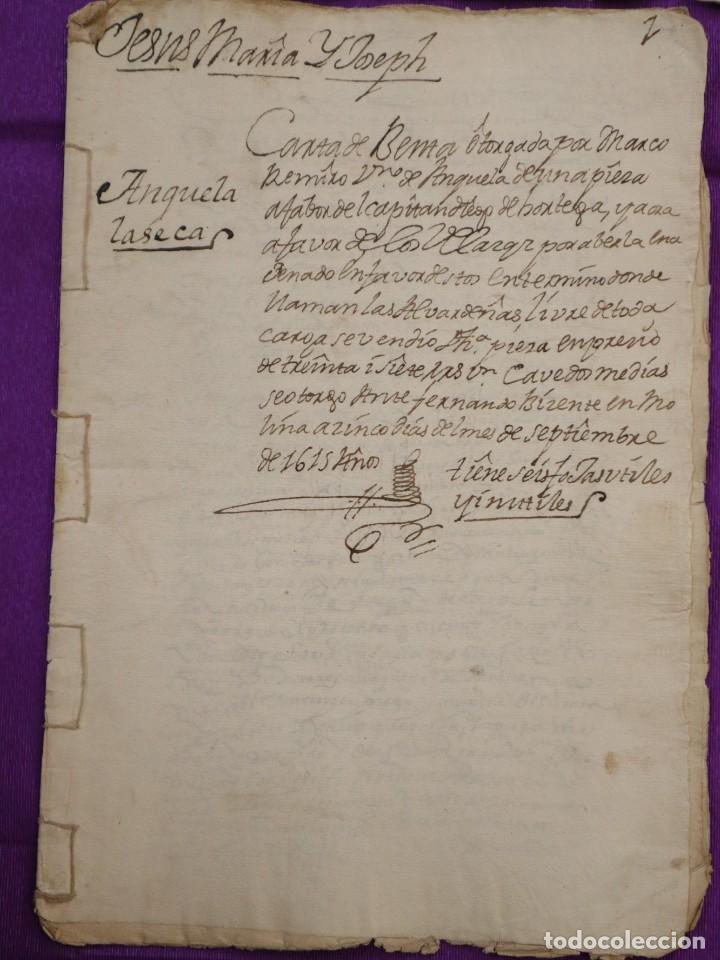 Manuscritos antiguos: Conjunto de 23 manuscritos relativos a la compra-venta de inmuebles. Siglos XVI-XIX. - Foto 9 - 244764245