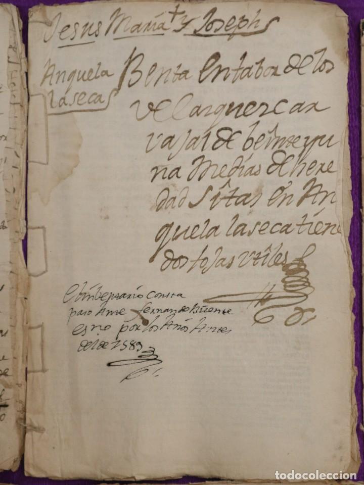 Manuscritos antiguos: Conjunto de 23 manuscritos relativos a la compra-venta de inmuebles. Siglos XVI-XIX. - Foto 13 - 244764245