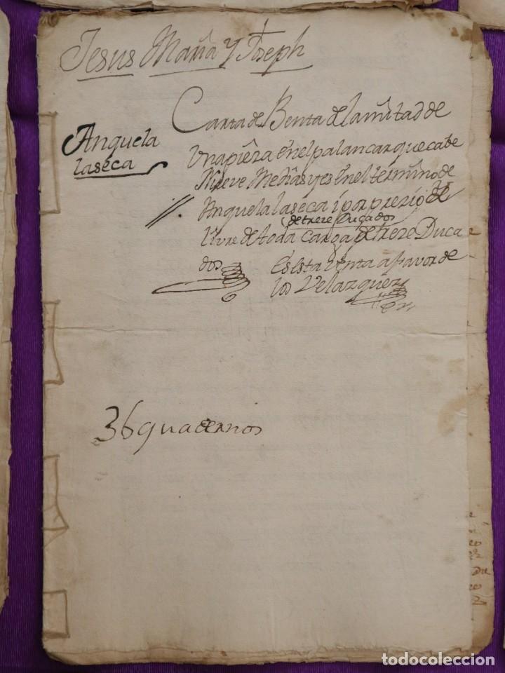 Manuscritos antiguos: Conjunto de 23 manuscritos relativos a la compra-venta de inmuebles. Siglos XVI-XIX. - Foto 14 - 244764245
