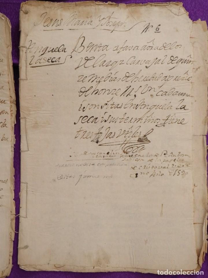 Manuscritos antiguos: Conjunto de 23 manuscritos relativos a la compra-venta de inmuebles. Siglos XVI-XIX. - Foto 15 - 244764245