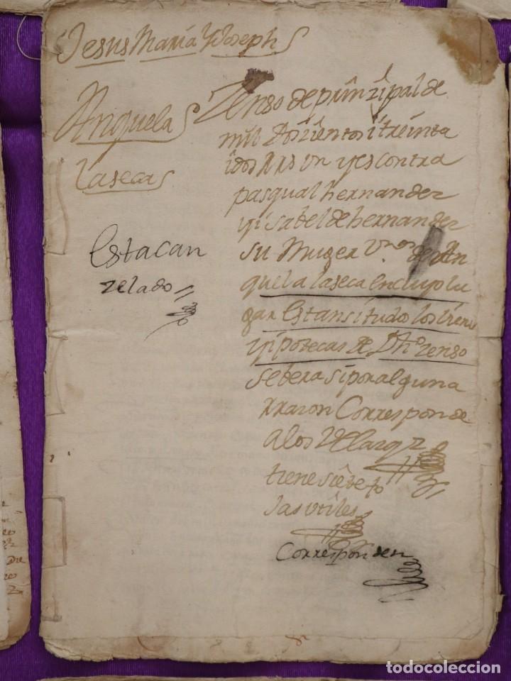 Manuscritos antiguos: Conjunto de 23 manuscritos relativos a la compra-venta de inmuebles. Siglos XVI-XIX. - Foto 18 - 244764245
