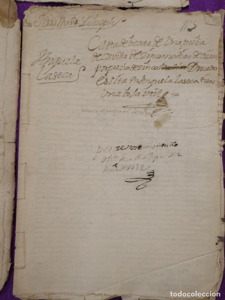 Manuscritos antiguos: Conjunto de 23 manuscritos relativos a la compra-venta de inmuebles. Siglos XVI-XIX. - Foto 21 - 244764245