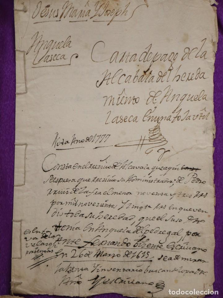 Manuscritos antiguos: Conjunto de 23 manuscritos relativos a la compra-venta de inmuebles. Siglos XVI-XIX. - Foto 22 - 244764245
