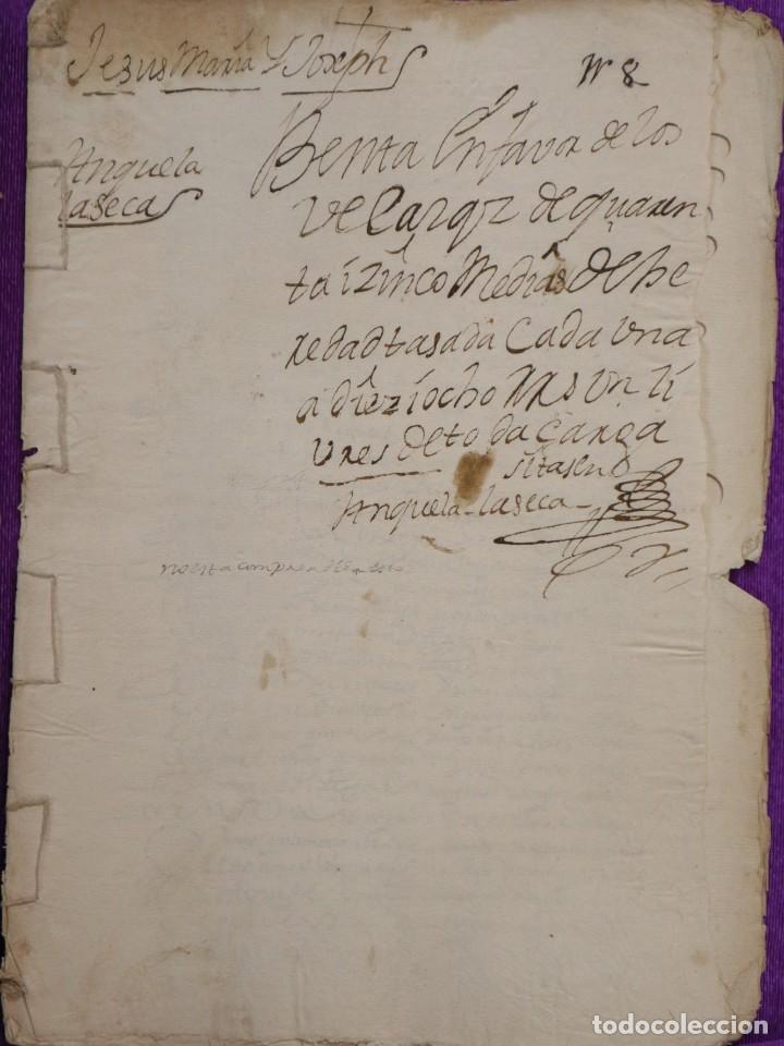 Manuscritos antiguos: Conjunto de 23 manuscritos relativos a la compra-venta de inmuebles. Siglos XVI-XIX. - Foto 23 - 244764245