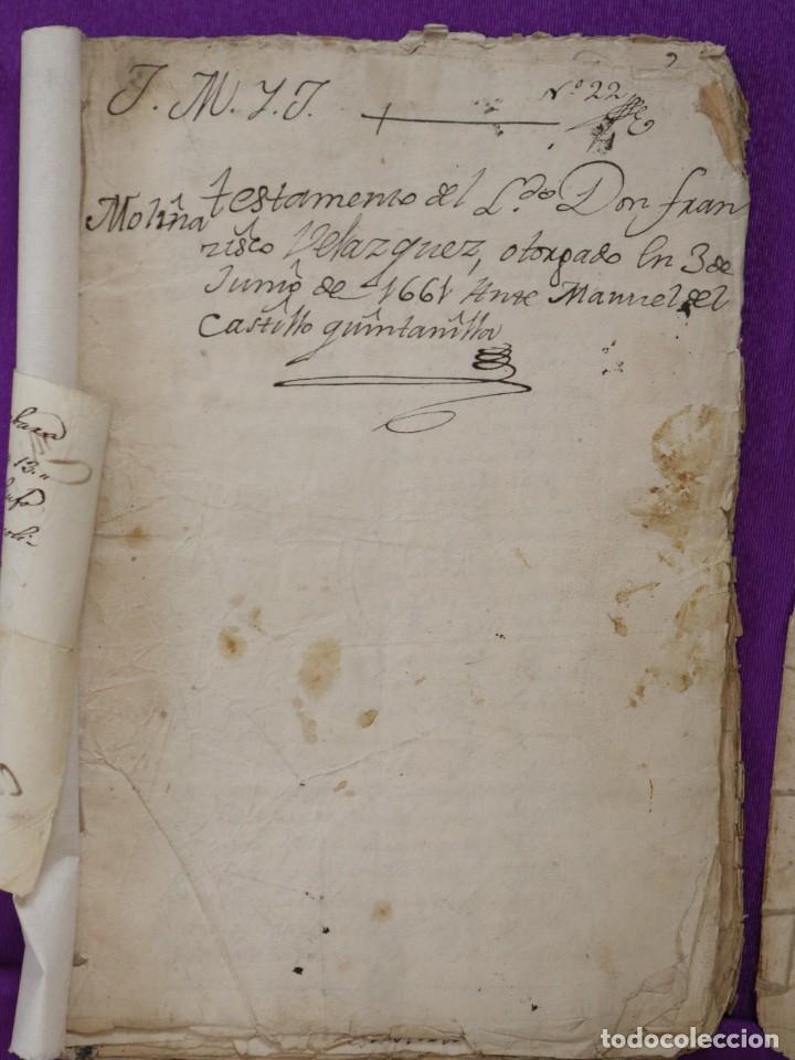 Manuscritos antiguos: Conjunto de 23 manuscritos relativos a la compra-venta de inmuebles. Siglos XVI-XIX. - Foto 29 - 244764245