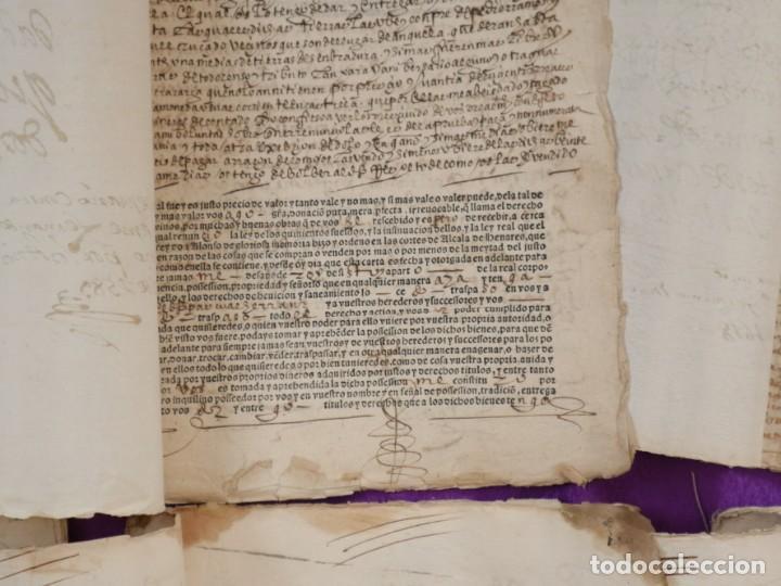 Manuscritos antiguos: Conjunto de 23 manuscritos relativos a la compra-venta de inmuebles. Siglos XVI-XIX. - Foto 37 - 244764245