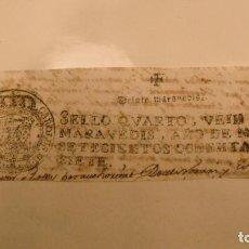 Manuscritos antiguos: CABECERA PAPEL TIMBRADO SELLO 4º 20 MARAVEDIS AÑO DE 1787. Lote 245027000