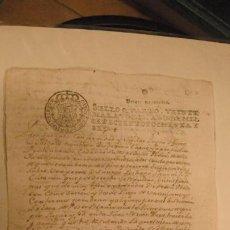 Manuscritos antiguos: DOCUMENTO PAPEL TIMBRADO SELLO 4º 20 MARAVEDIS AÑO DE 1786. Lote 245027160