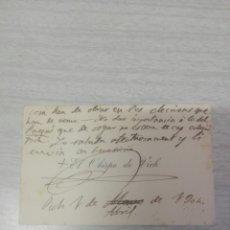 Manuscritos antiguos: CARTA DEL OBISPO DE. VIC AL ARCIPRESTE DE MANRESA TEMA LAS MONJAS DE LA ENSEÑANZA AÑO 1904. Lote 245069520