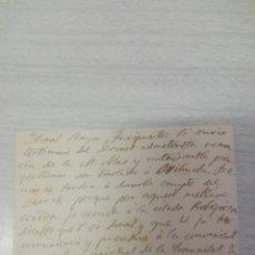 Manuscritos antiguos: CARTA DEL OBISPO DE VIC AAL ARCIPRESTE DE MANRESA TEMA TRASLADO DE RELIGIOSA AÑO 1906. Lote 245070265