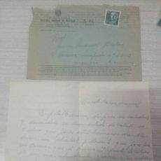 Manuscritos antiguos: CARTA CON SOBRE DE VALENCIA A MANRESA MOSSEN MANUEL. Lote 245072770