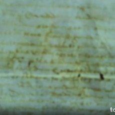 Manuscritos antiguos: MANUSCRITO SOBRE PERGAMINO SIGLO XV ,VENTA DE UN MOLINO EN CIUDAD DE OLIVA. Lote 245106380