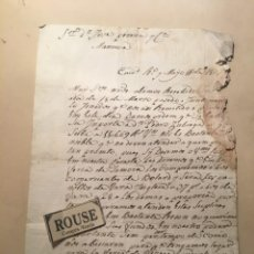Manuscritos antiguos: MANRESA - ANTIGUA CARTA MANUSCRITA MAYO 1807 - 21X15 CM.. Lote 245186345