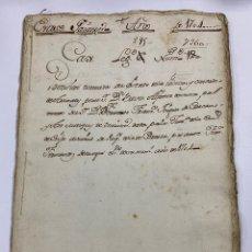 Manuscritos antiguos: ÉCIJA, 1704. MARQUÉS DE AVENTURERO. CONDADO DE ARENALES. 9 SELLOS-TIMBRES. VER/LEER. Lote 245192670