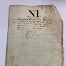 Manuscritos antiguos: SEVILLA,1676.ALEJANDRO JACOME. ORDEN DE CALATRAVA. COMPRA DE HEREDA DE TABLANTES.10 SELLOS. VER/LEER. Lote 245193295