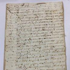 Manuscritos antiguos: ESPARTINAS, 1698. MARQUÉS DE DOS HERMANAS. MARQUÉS DE TABLANTES. VENTAS DE TIERRAS. VER/LEER. Lote 245194570