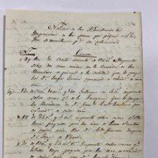 Manuscritos antiguos: SEVILLA. ARRENDAMIENTO. NOTICIAS DE ESCRITURAS DE IMPOSICIÓN. VER/LEER. Lote 245195090