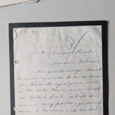 Manuscritos antiguos: 1927 AGUAS MINERALES - FERROCARRILES - CIA INTERNAC.COCHES CAMAS -ESCRITO A ENRIQUE PEINADOR. Lote 245215575