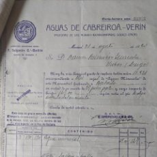 Manuscritos antiguos: DOCUMENTOS DE AGUAS DE CABREIROA AL PROCURADOR RAMON PALMEIRO DE VIVEIRO. Lote 245216625
