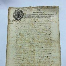 Manuscritos antiguos: CADIZ, 1642. ESCRITURA DE IMPOSICIÓN Y REDENCIONES. 1 SELLO. VER/LEER. Lote 245392110